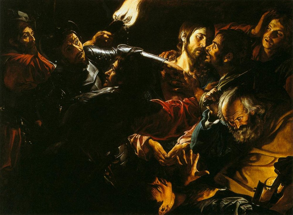 Douffet,_Gérard_-_Taking_of_Christ_with_the_Malchus_Episode_-_c._1620.jpg