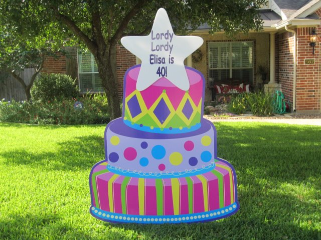 WHIMSICAL BIRTHDAY CAKE SIGN RENTAL One Sign Day New Baby And Birthday Rentals Houston Texas Area