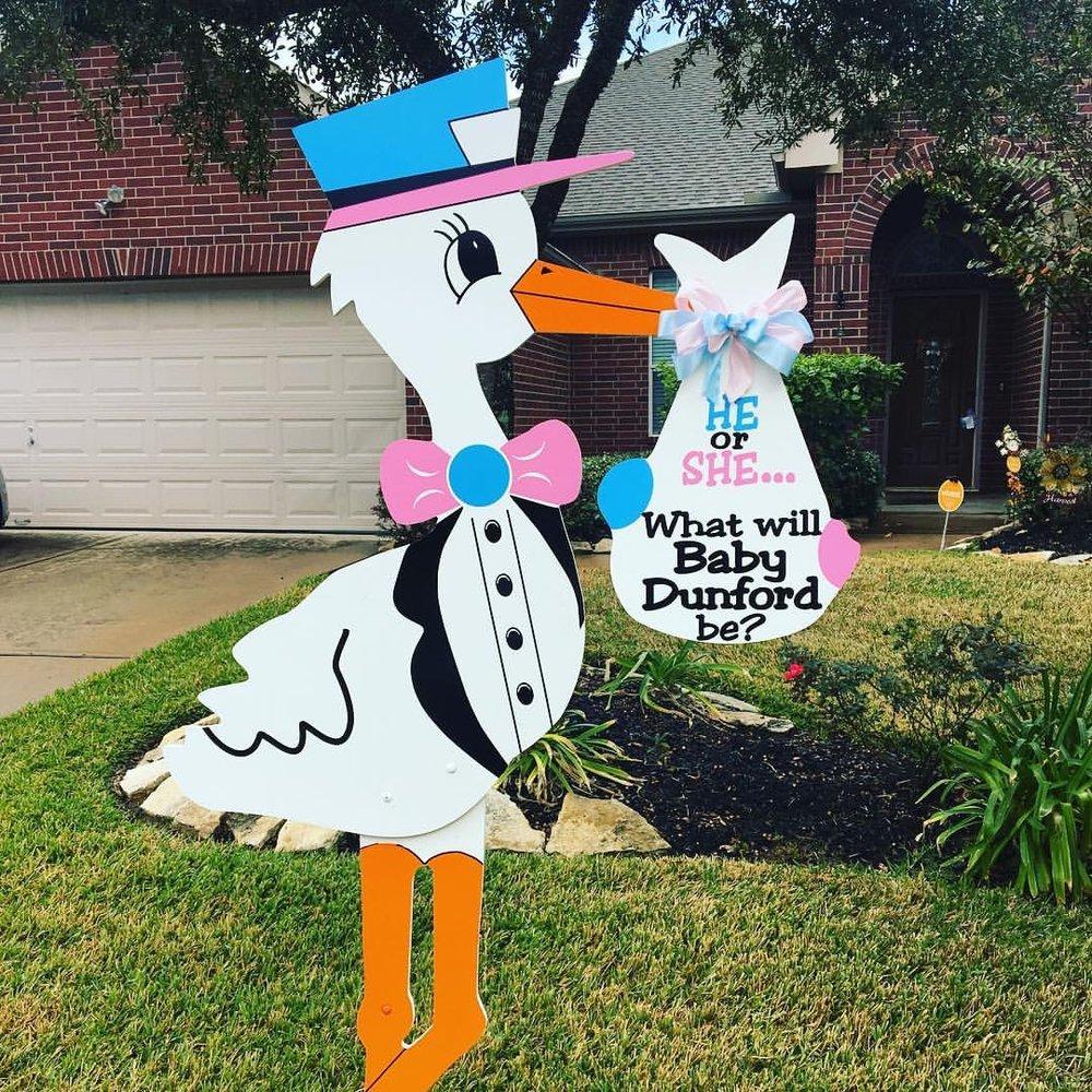 Gender Neutral stork sign