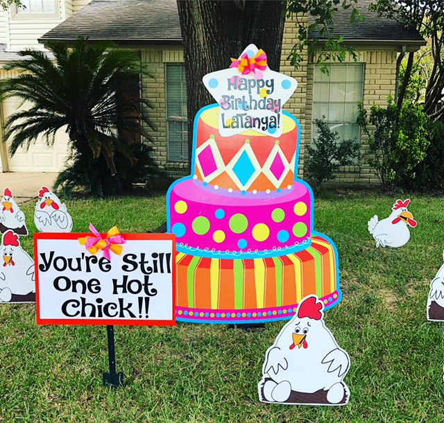 One Sign Day Birthday Signs Houston Texas New Baby