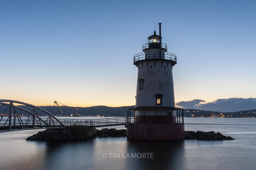 The lighthouse at Kingsland Point in Sleepy Hollow, NY