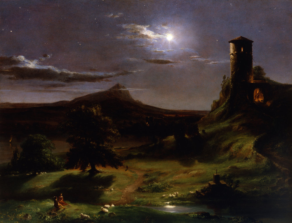 Landscape (Moonlight)  by Thomas Cole (circa 1833-34)