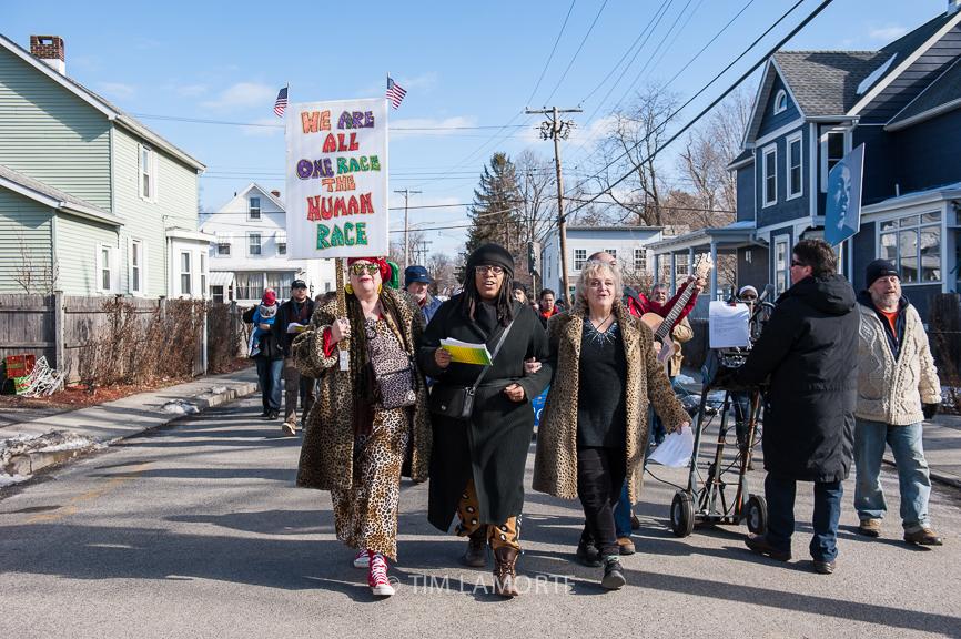 Mary Poppins, Sarah Elisabeth, and Bonnie Champion lead the parade on Feb. 16.