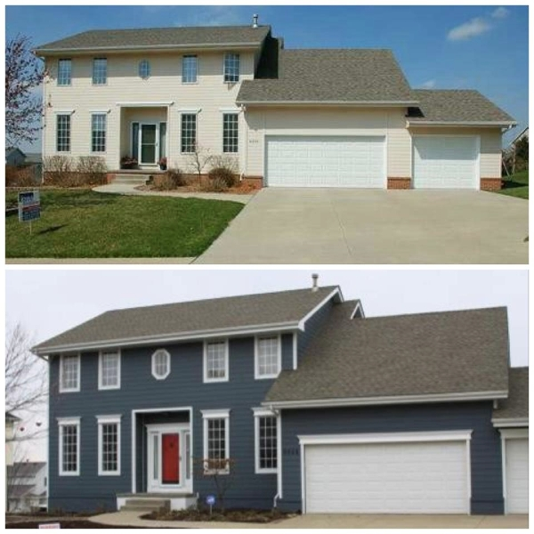 Before and after exterior painting beautiful exterior painting contractors minneapolis minnesota twin cities
