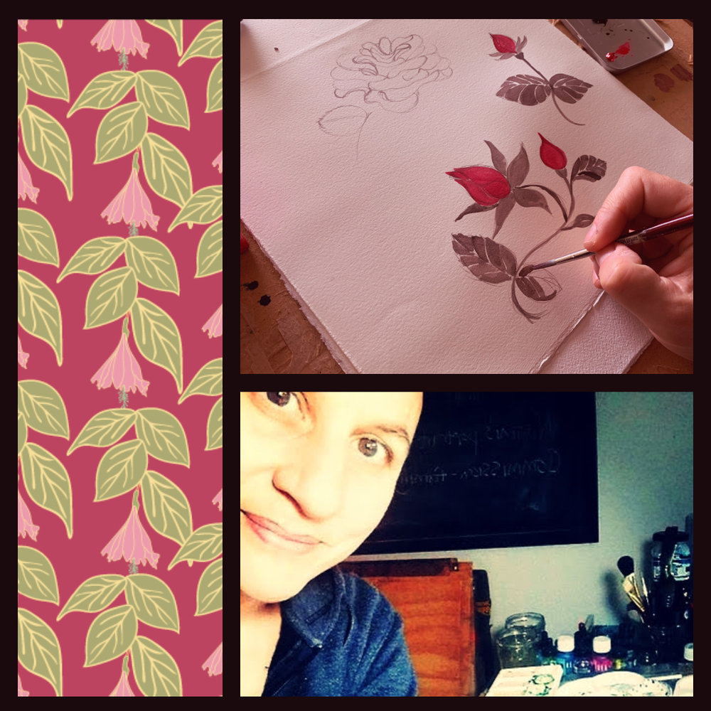 Hello, I'm Karen Erasmus. illustrator and surface pattern designer. - I love creating patterns and adding colour to products, particularly textiles. If you're looking for something unique and special I would love to work with you through the whole process from sketching up ideas to providing art work.