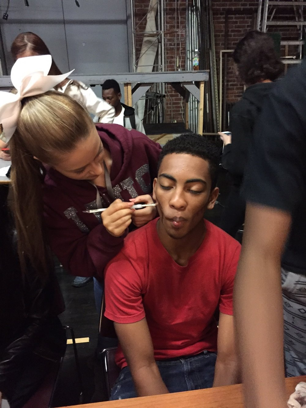 Stagecraft Class,   makeup application