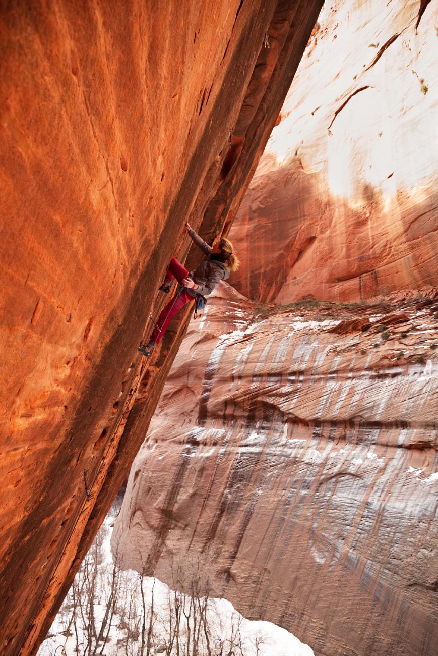 "Deanna Lombardo near the top of ""Namaste"""