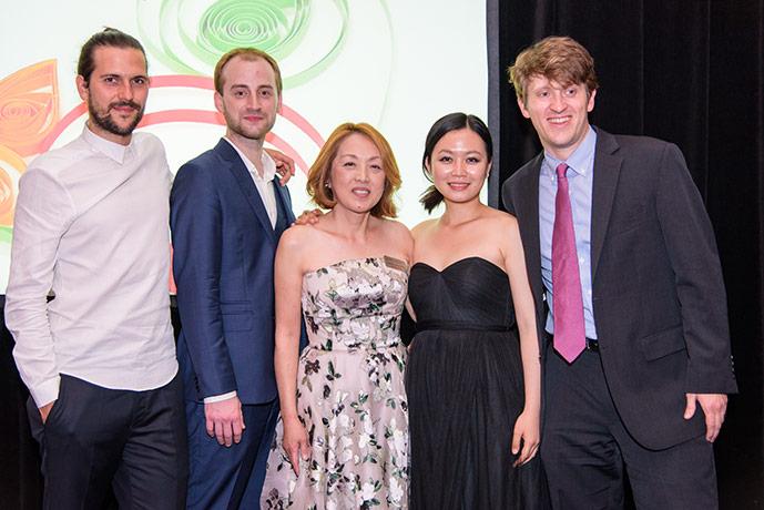 (L-R) Jorge Manes Rubio, Wintringham, Sachiko Kuno (President, S&R Foundation), Luosha Fang, Lembit Beecher