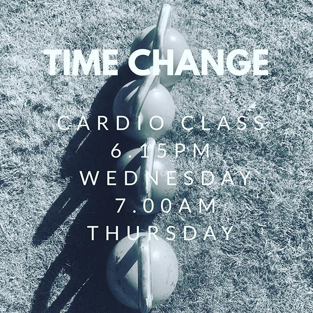 Time change! ⠀ ⠀ Cardio class is not on Tuesday for the following two weeks! I apologise for the inconvenience but there will be two additional times added to the time table! ⠀ I got a secondment at work in Melbourne ... yay! But unfortunately it will effect cardio for the next two week! ⠀ ⠀ The additional classes have been added to the macfilly app and can be booked there also! Look forward to running with you! ⠀ ⠀