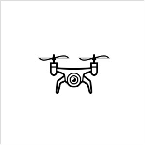 Drone footage. -