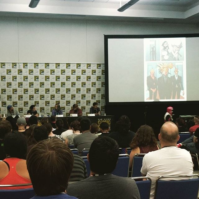 Image Comics excellence in storytelling panel with Nick Dragotta, Dustin Nguyen, Marjorie Liu and others. #sdcc2017 #sdcc