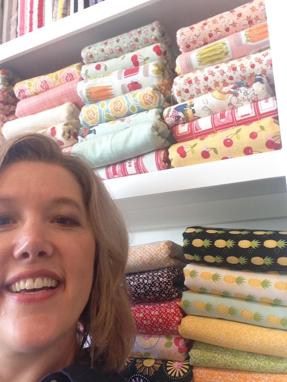 Selfie in the Riley Blake board room.