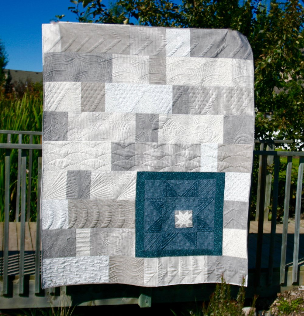 Deena Rutter's Knock On Wood Low Volume Quilt