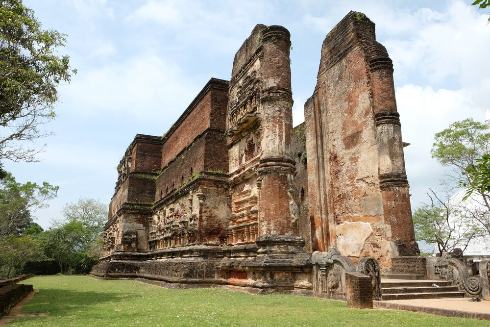 One of the many archaeological sites within Polonnaruwa.