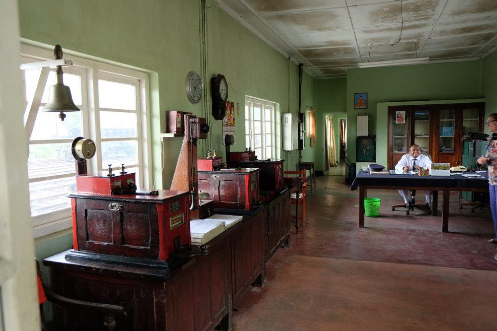 Station office at Nanu Oya.