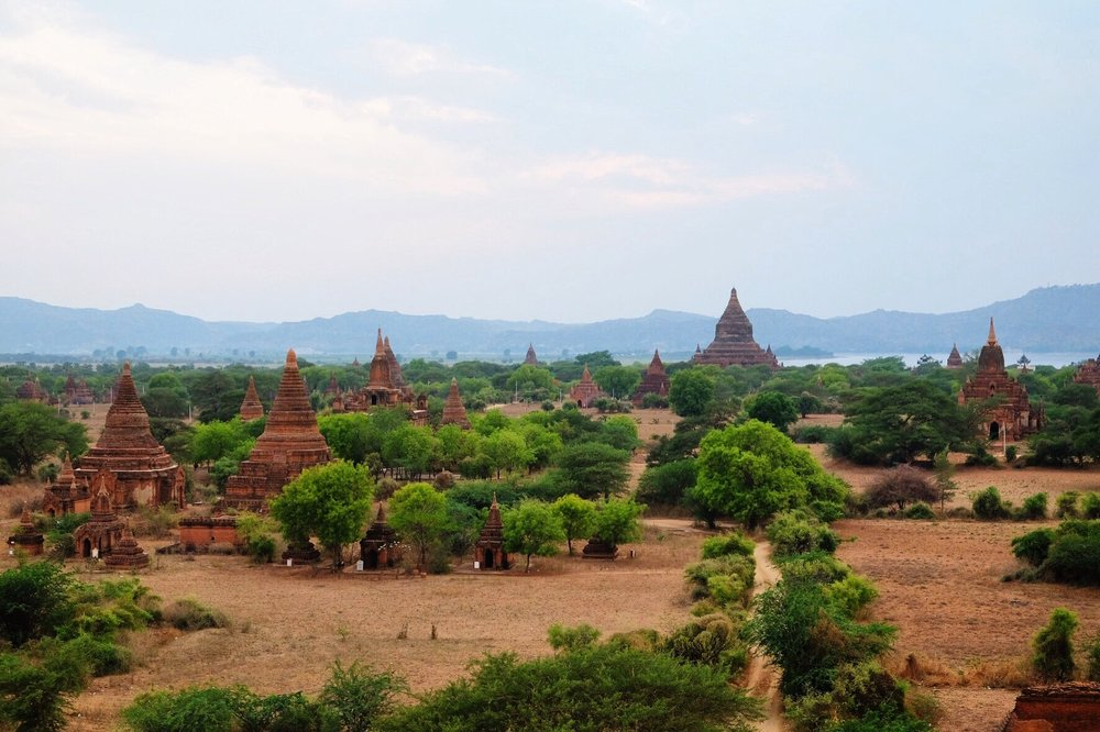 A section of the sprawling Bagan temple complex.