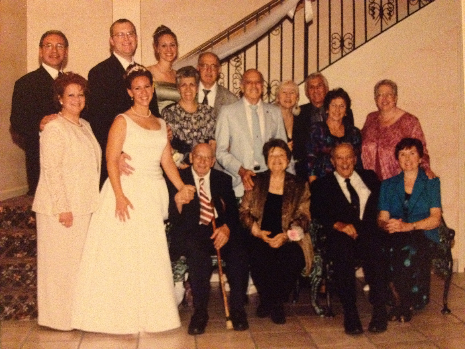 My wedding day, with all of my Father's Uncles and Aunts. (Uncle Jimmy is holding my hand.)