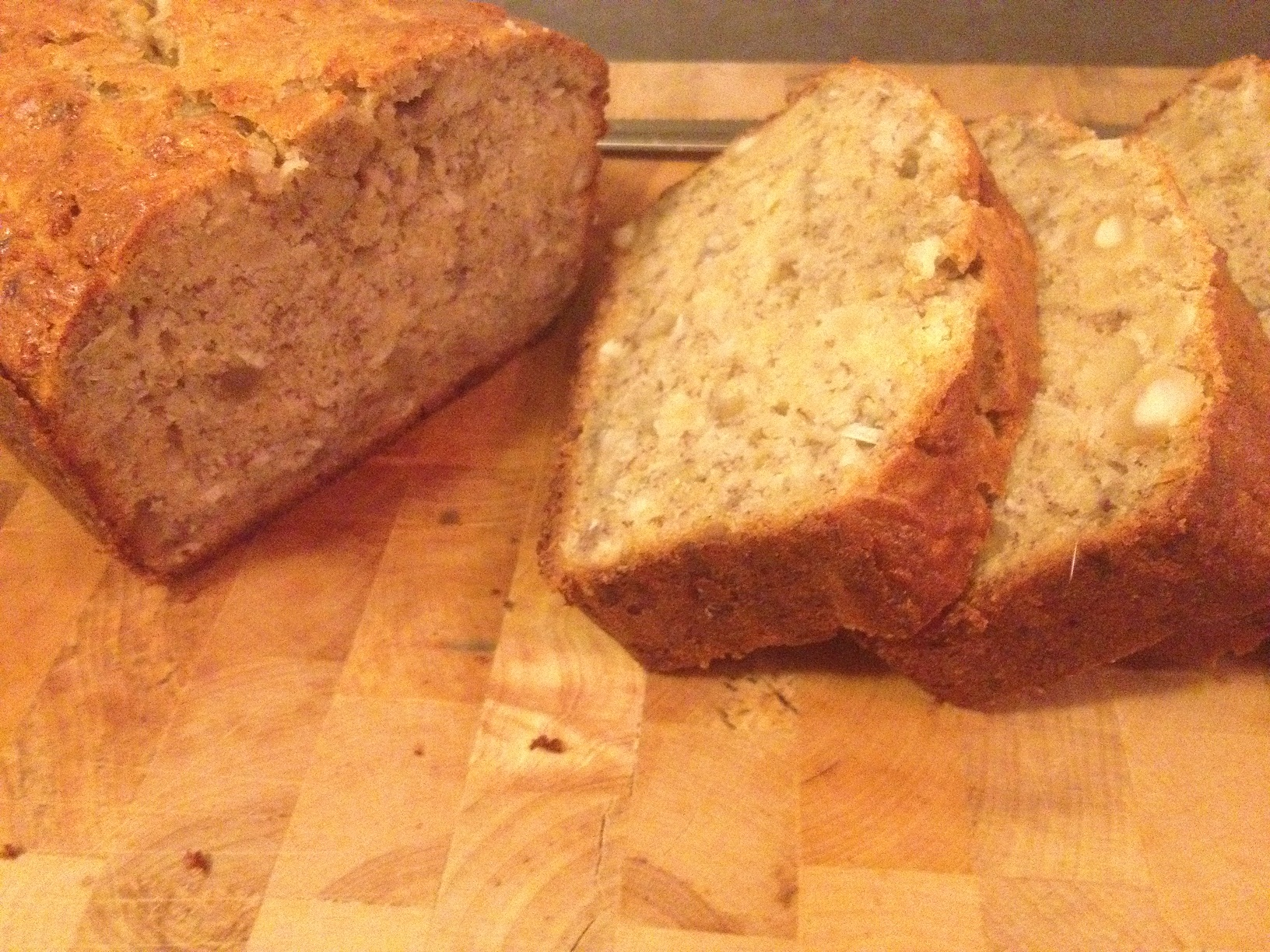 Banana Bread with Coconut and Maccadamia Nuts