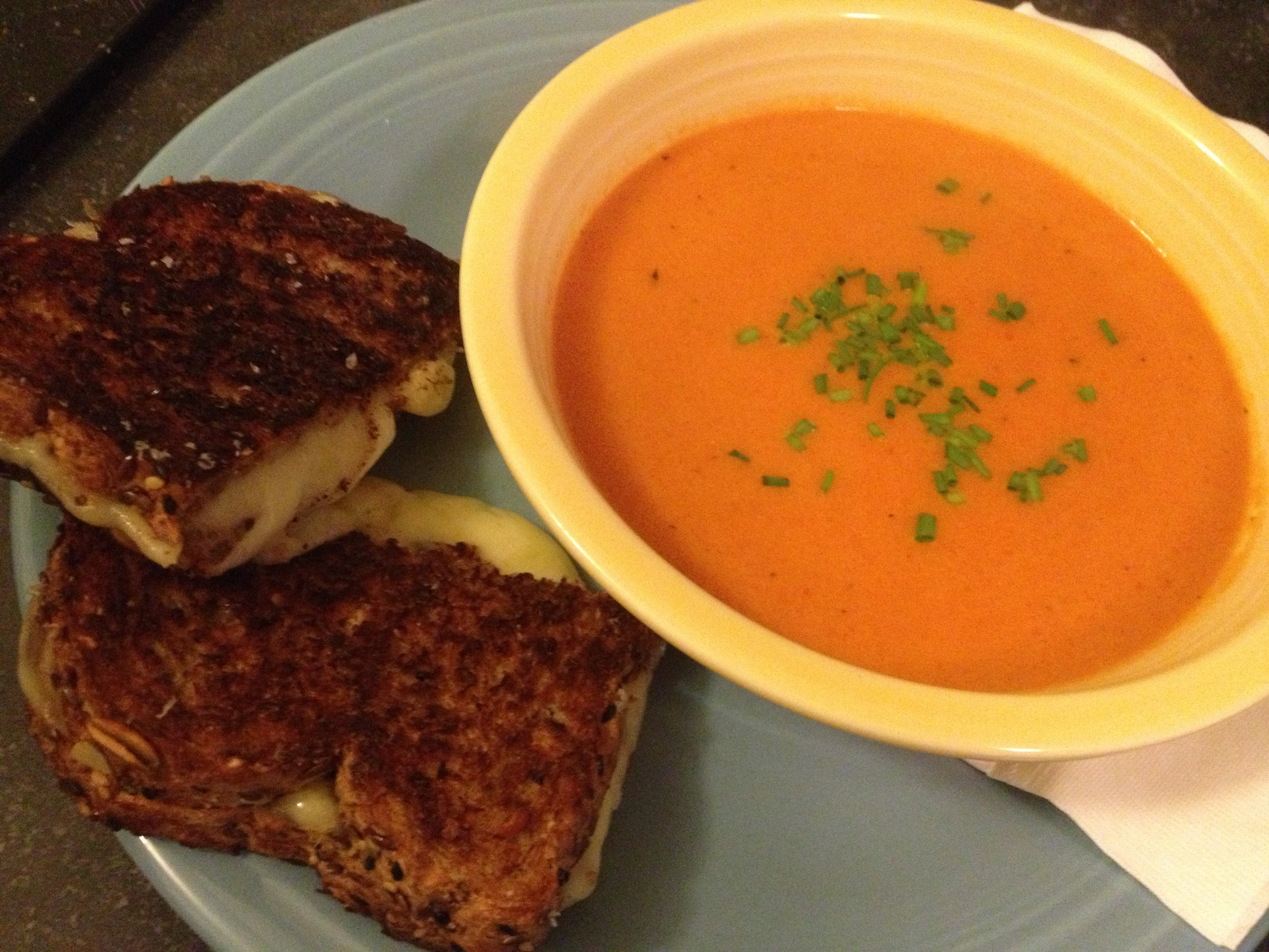 Brian's Grilled Cheese and my Tomato Soup