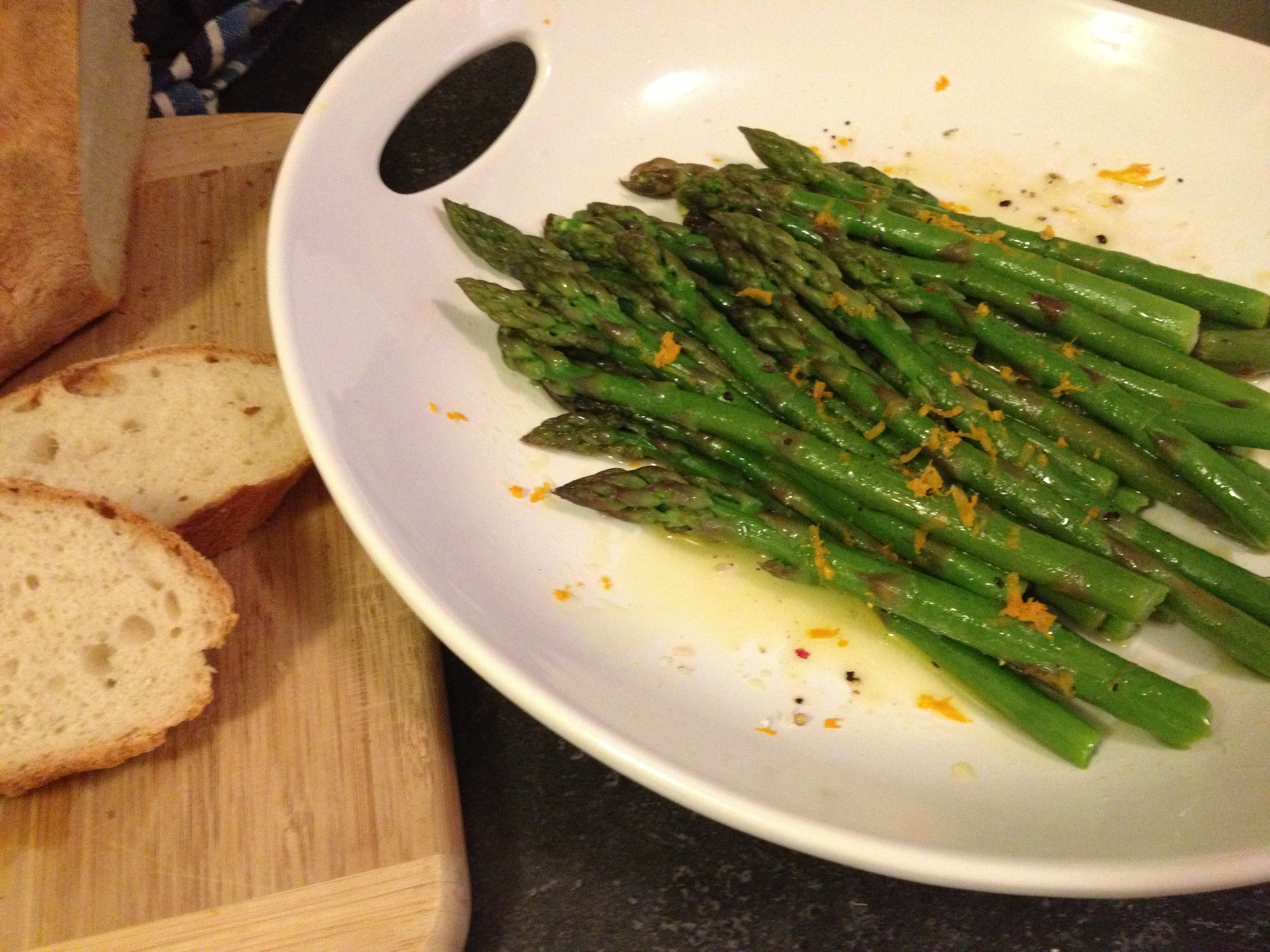 Asparagus with a Lemon Vinaigrette