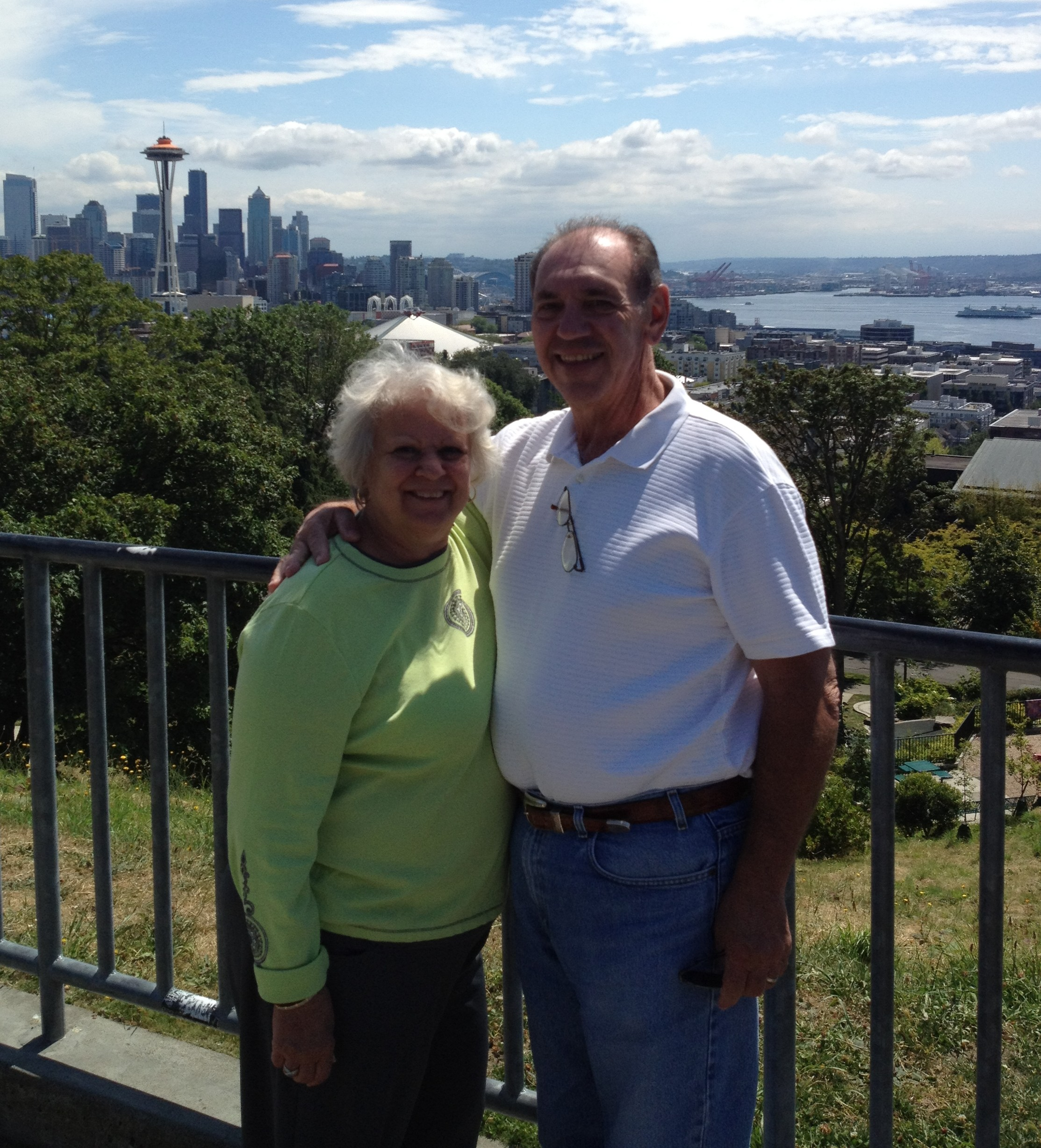 My mom and dad, on their 2012 Seattle visit.