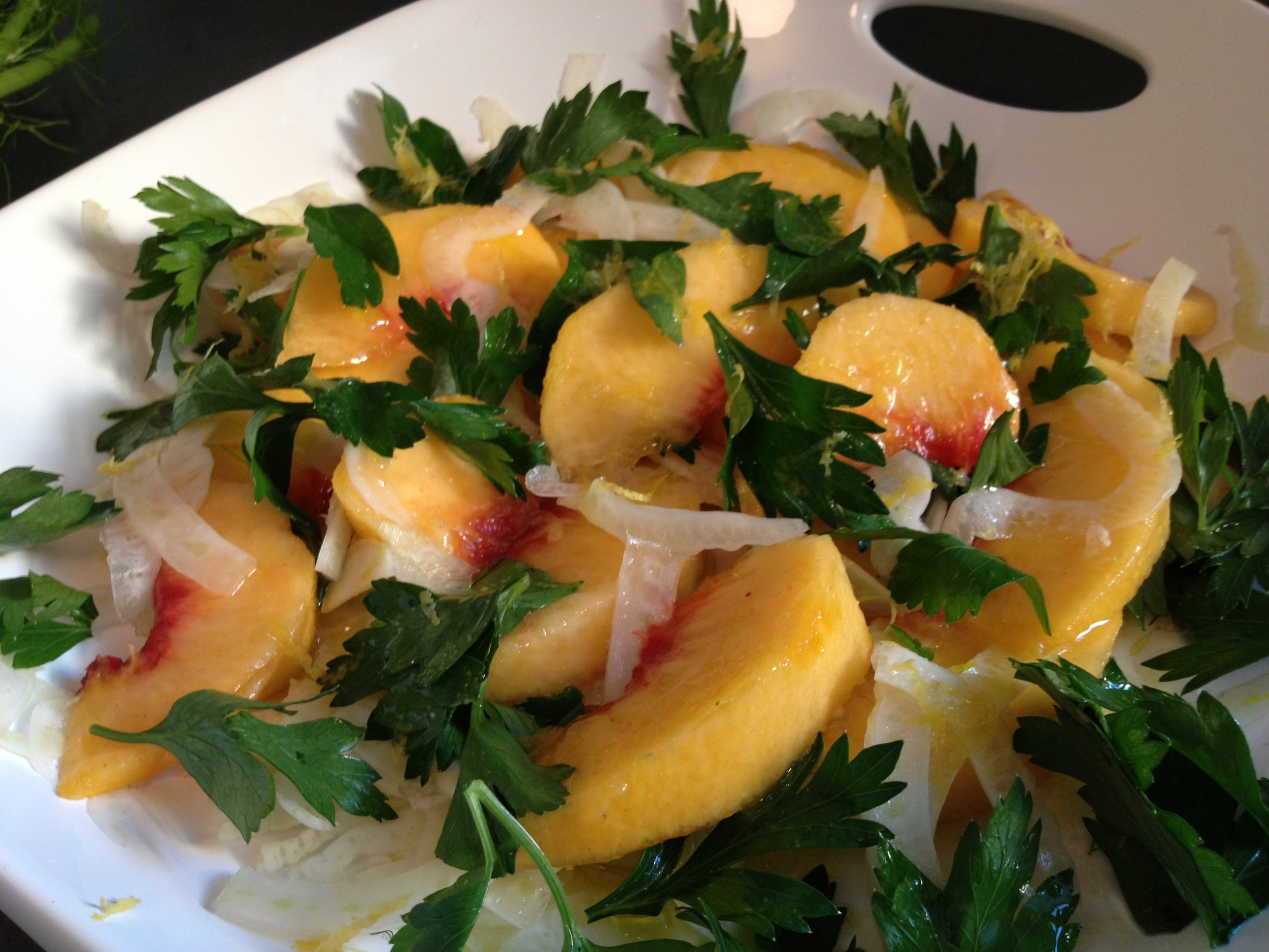 Peach and Fennel Salad