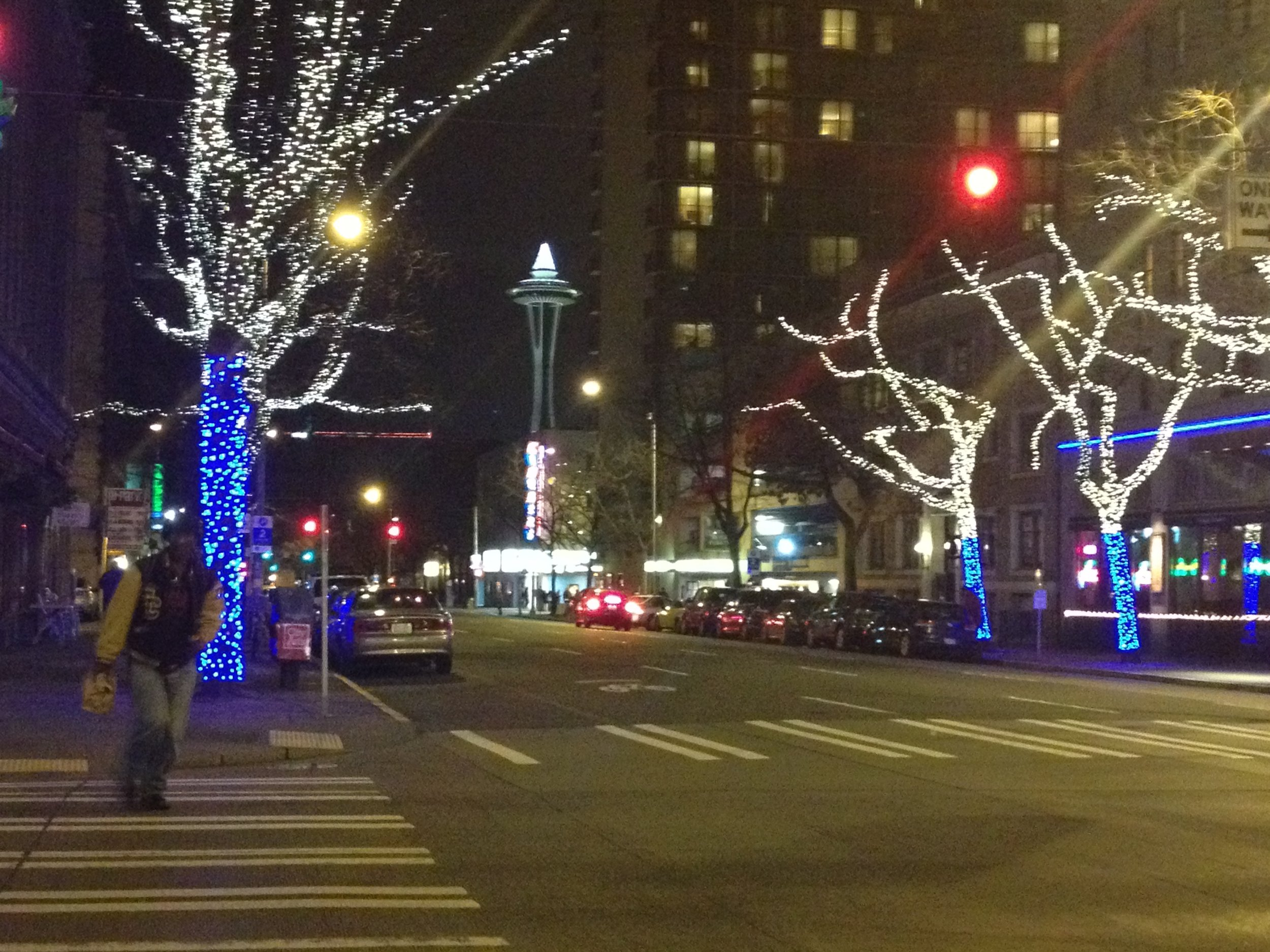 Seattle, getting ready for the holiday season.