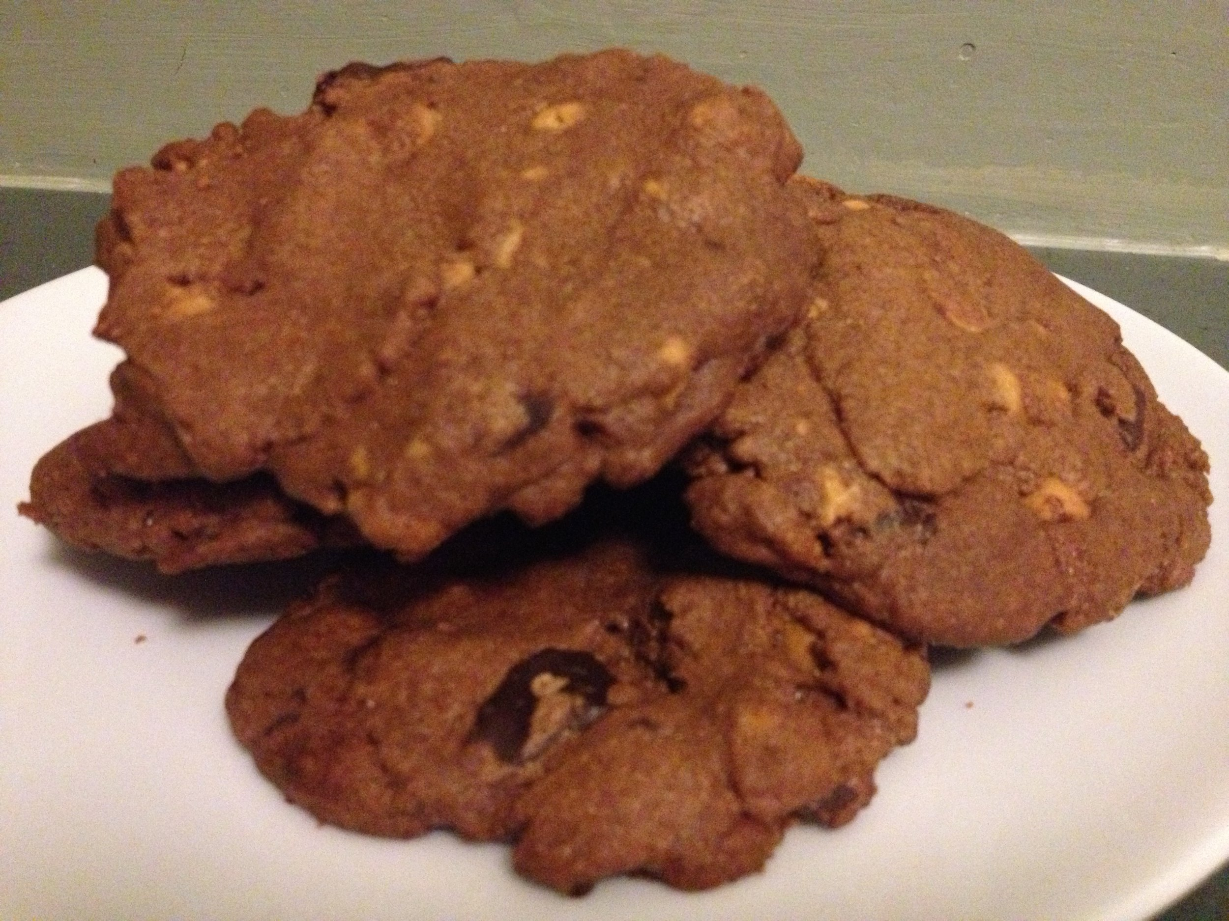 Double Chocolate Cookies with Peanut Butter Chips