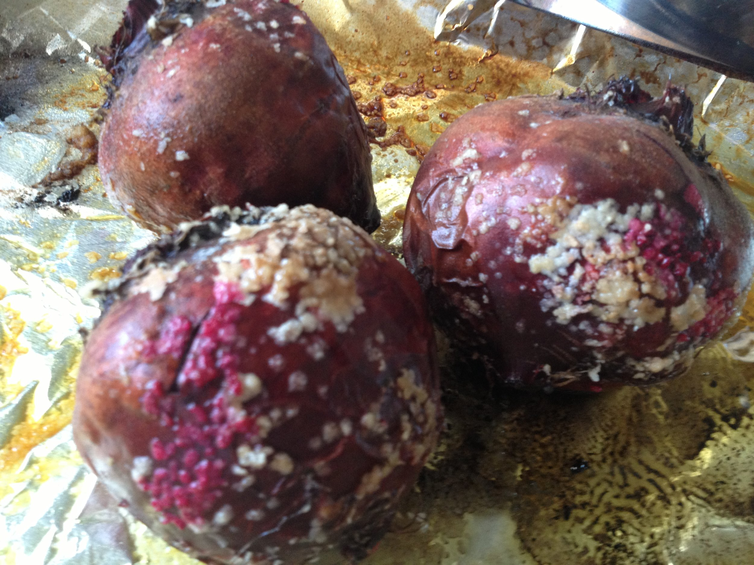 Freshly Roasted Beets, cooking them this way leave you with a tender and sweet vegetable.