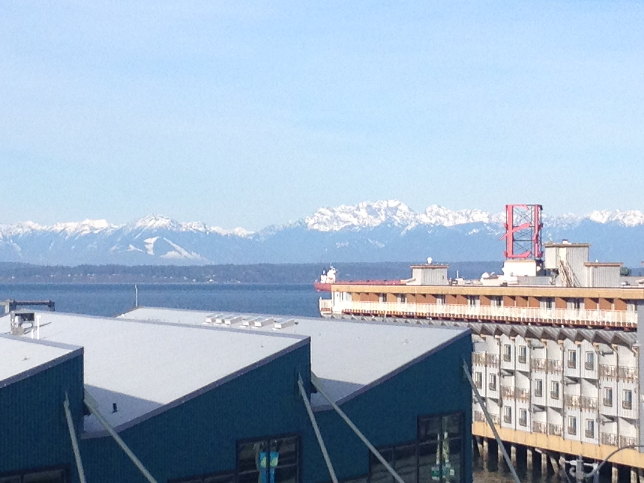 Olympic Mountains, across the water from downtown