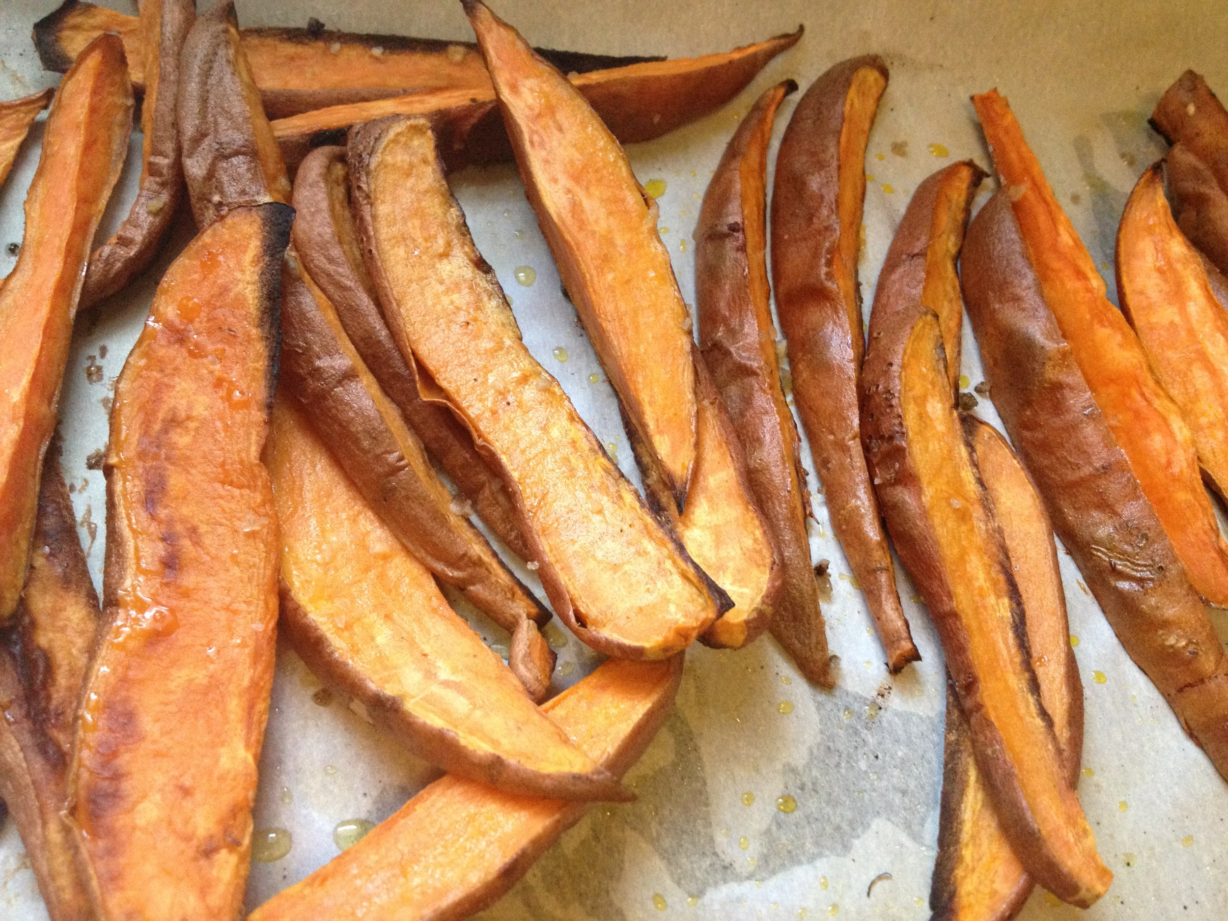Baked Sweet Potato Fries, right out of the oven