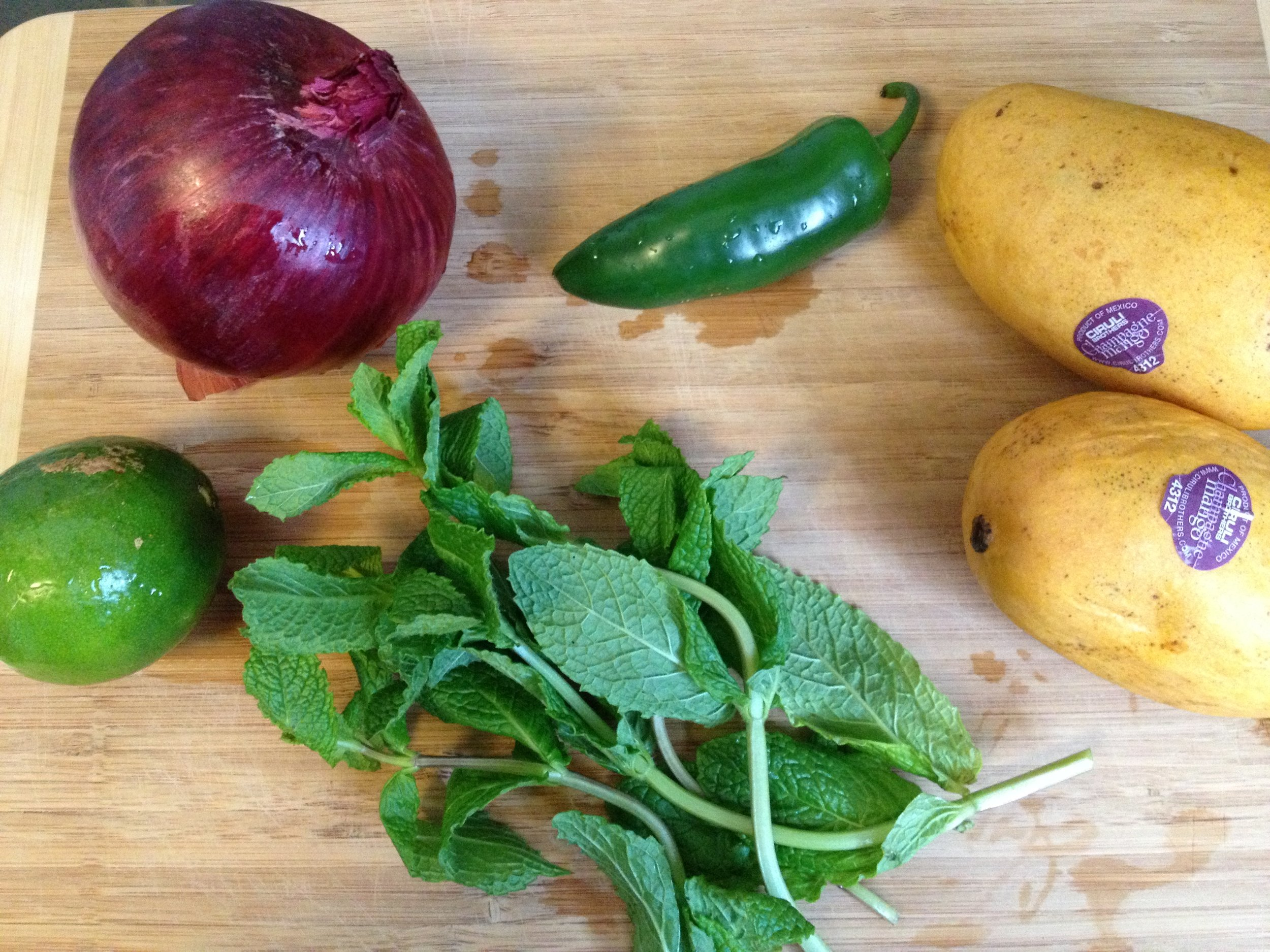 The makings of a great mango Salsa