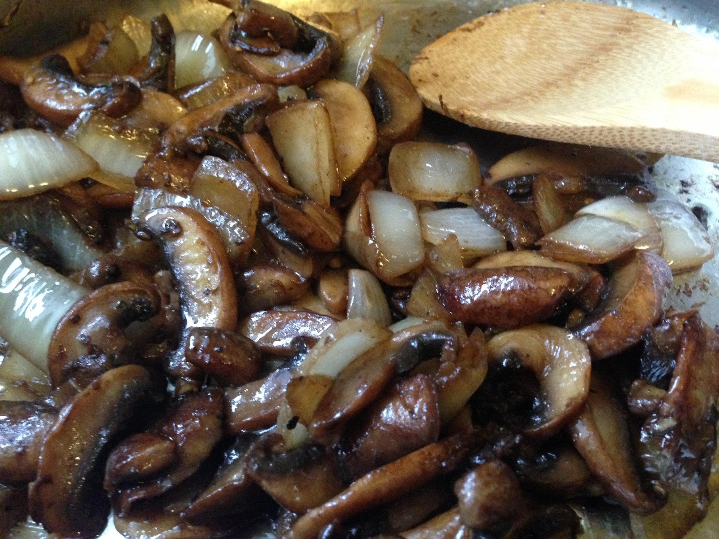 Sauted mushrooms and onions.
