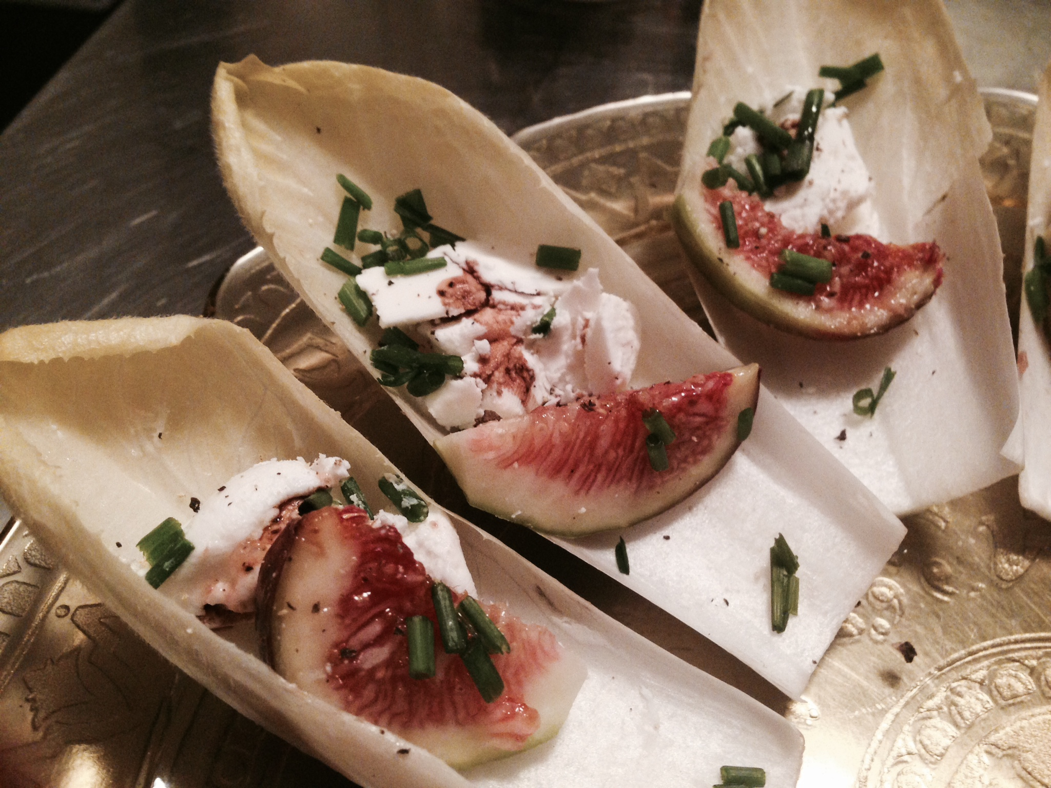 Endive Boats with Goat Cheese and Fresh Figs