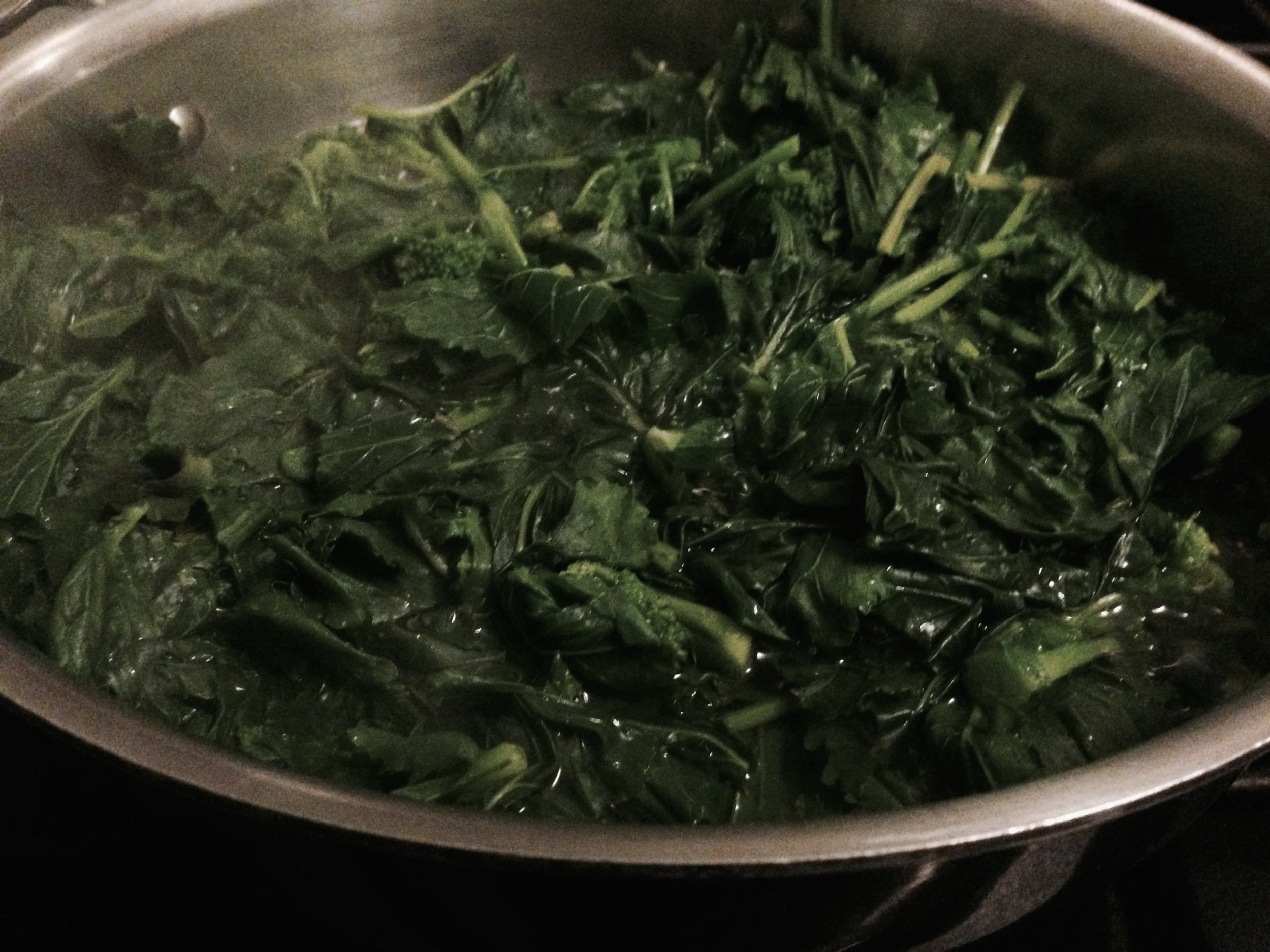 Broccoli Rabe once it wilts.