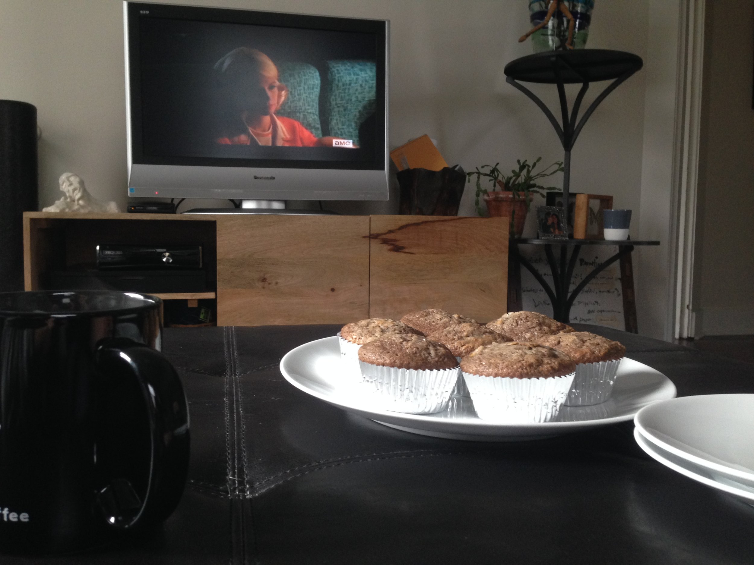Mad Men, Muffins, and tea...a great Sunday morning.