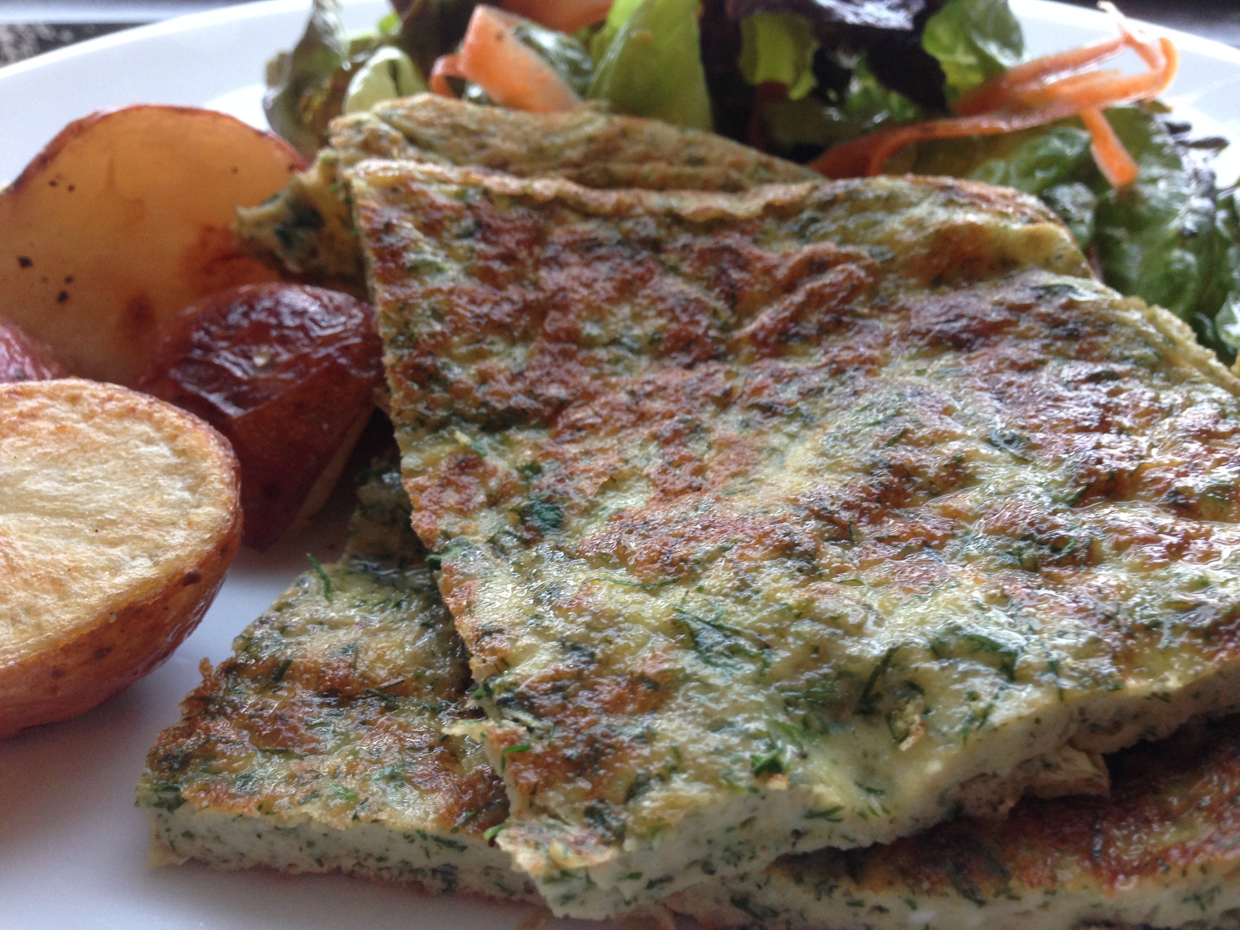 Fresh Herb Omelette, ready to eat.