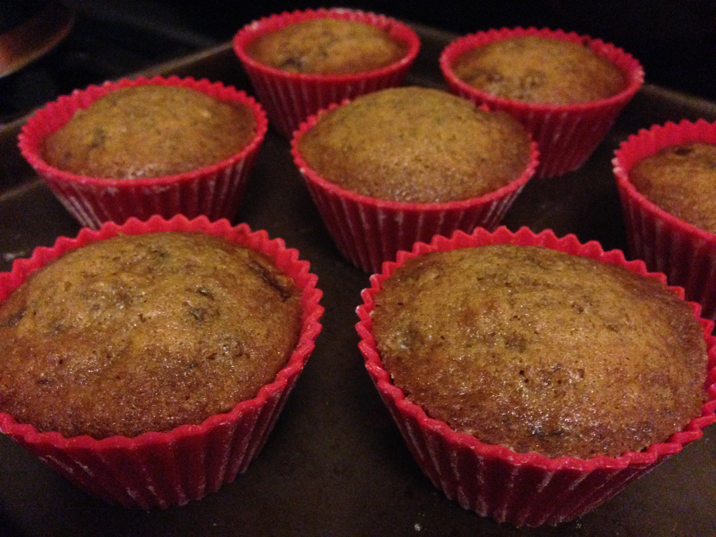 Date Cakes cooling, right out of the oven.