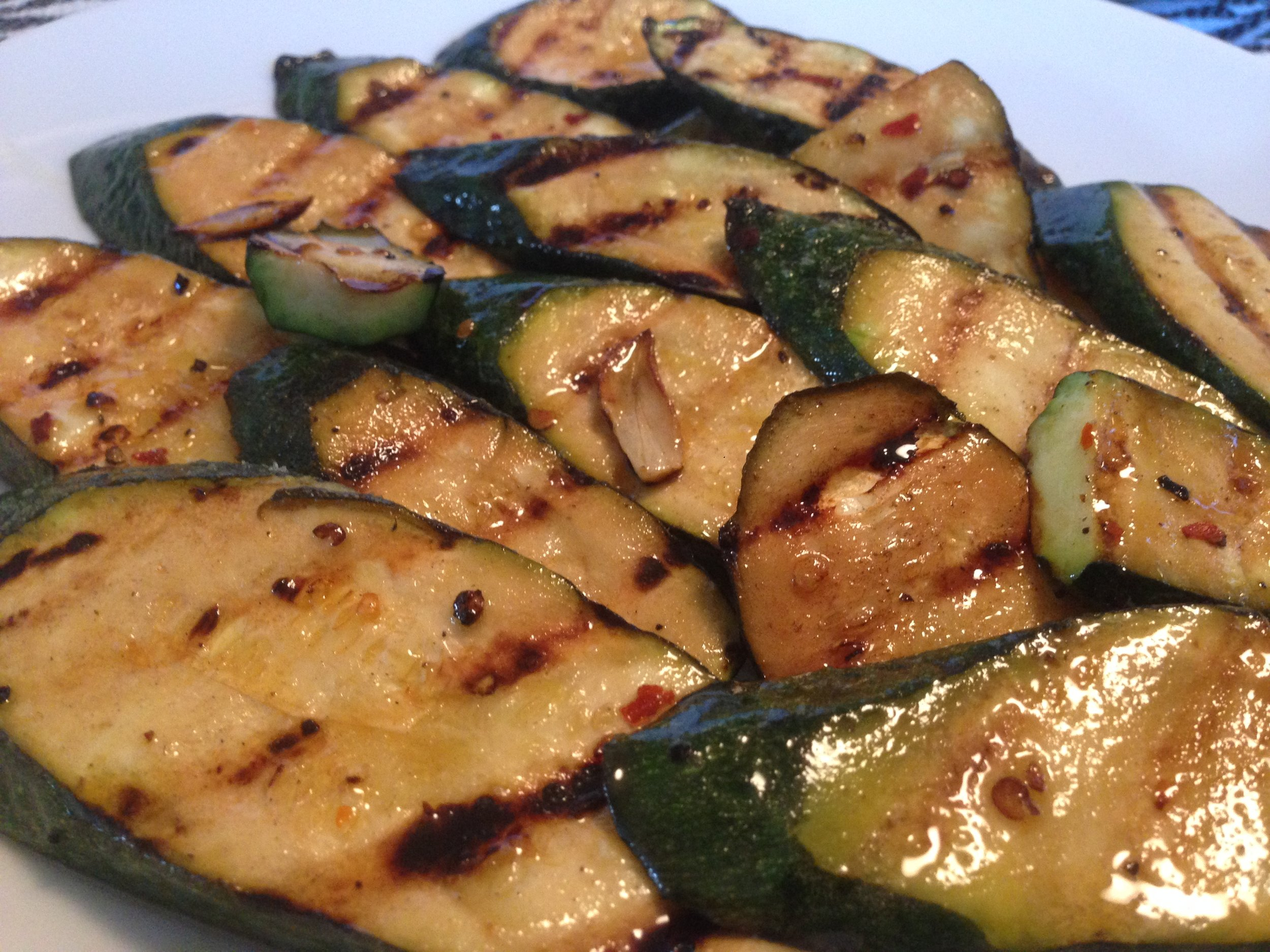 Zucchini grilled and ready to eat.