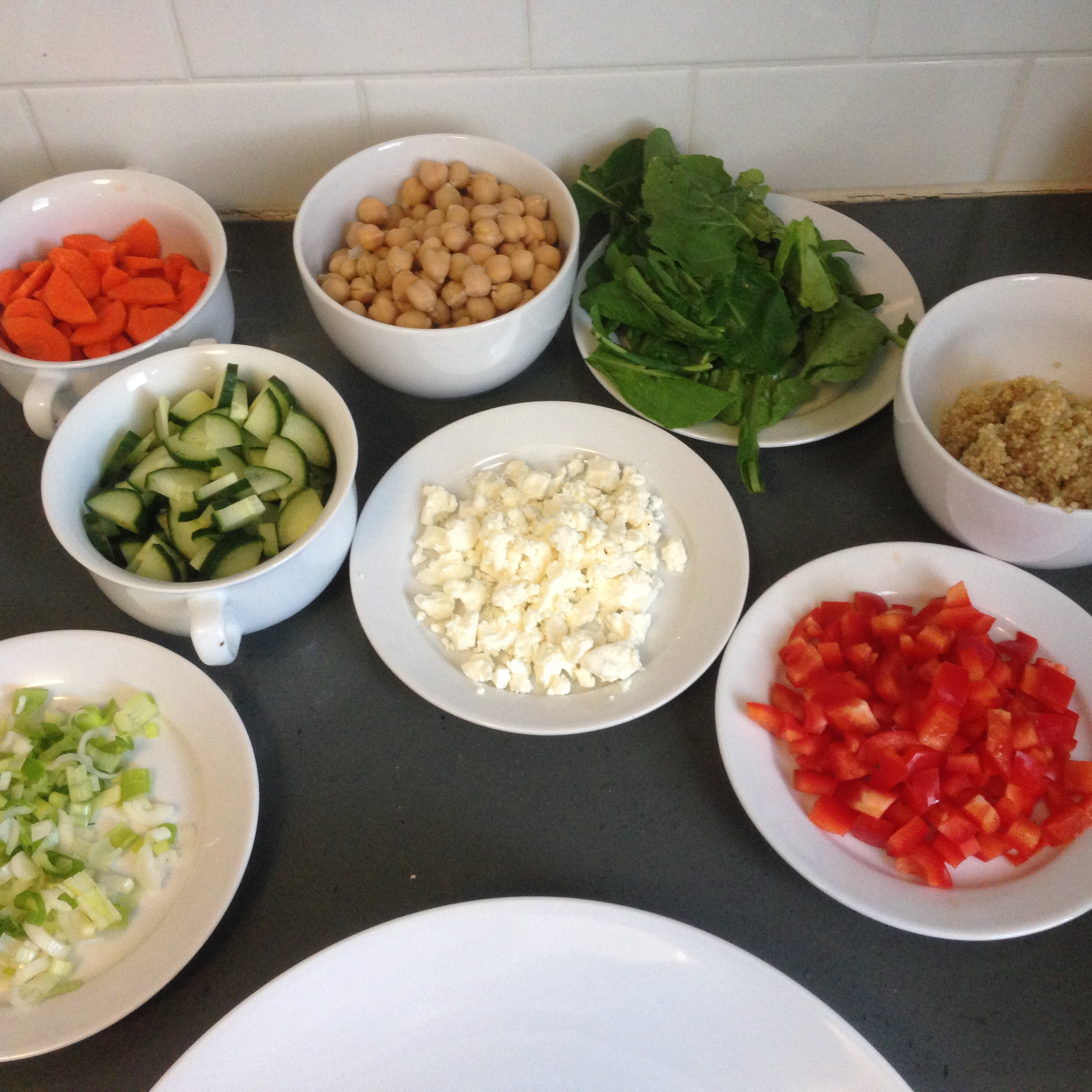 All the ingredients chopped and ready.