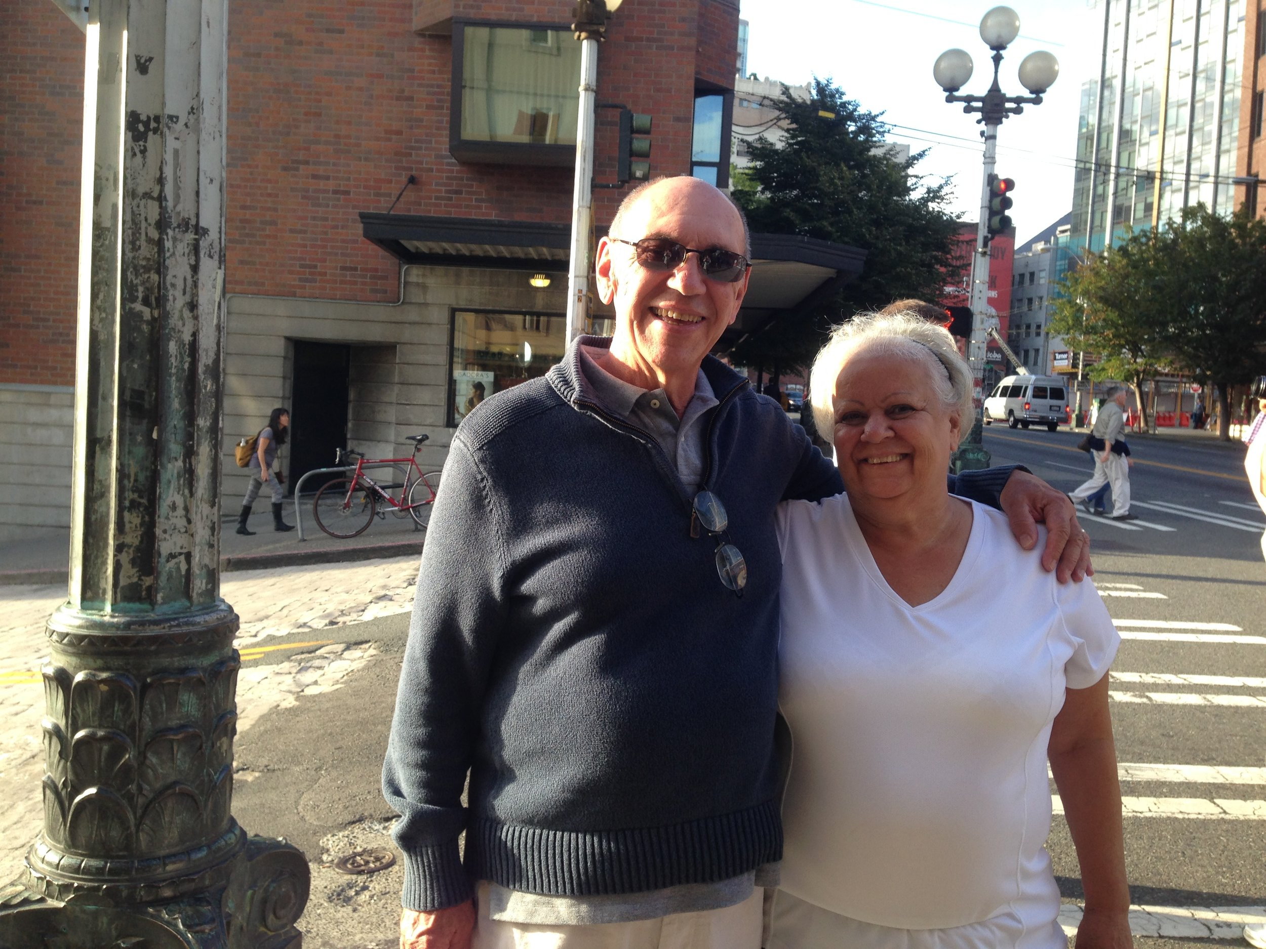 My dad with my mom on there last visit to Seattle.