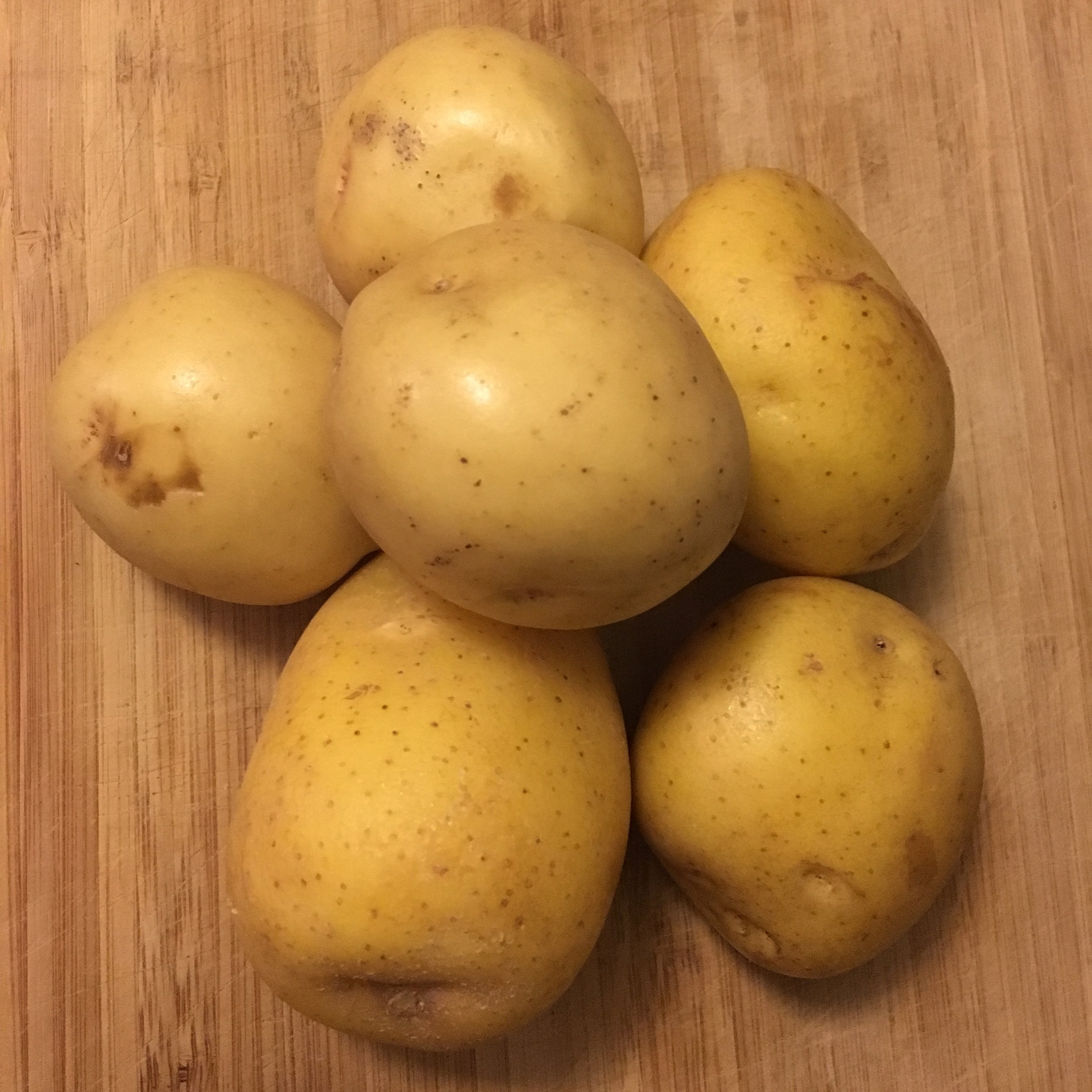 Two pounds of yukon gold potatoes.