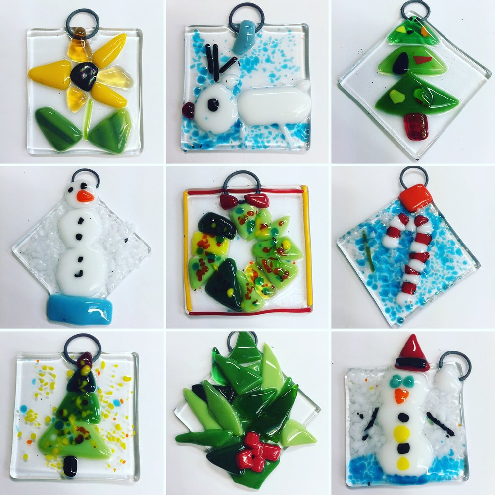 Create Fused Glass Ornaments - FREE, SAT 12/9 from 12-4PM, across from Peet's