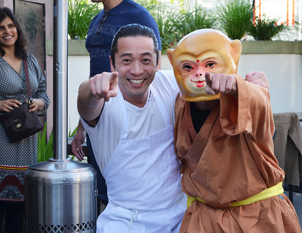 Hello from Iyasare Chef Sho and the mischievous Monkey!