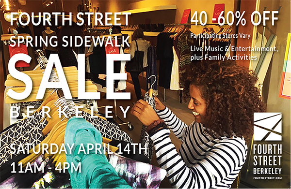 Fourth Street ~ Participating merchants offer 40-60% off selected merchandise