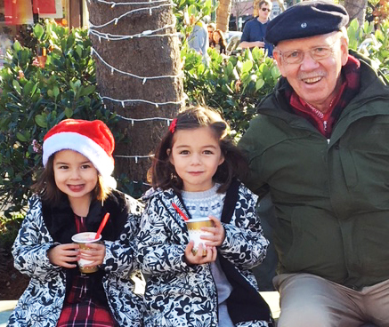 Enjoying their hot cocoa with Grandpa!  Sat & Sun 12/22-23 from 12-4pm.