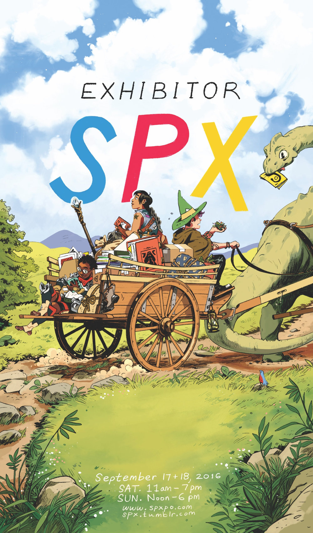 SPX exhibitor badge print by  Rebecca Mock