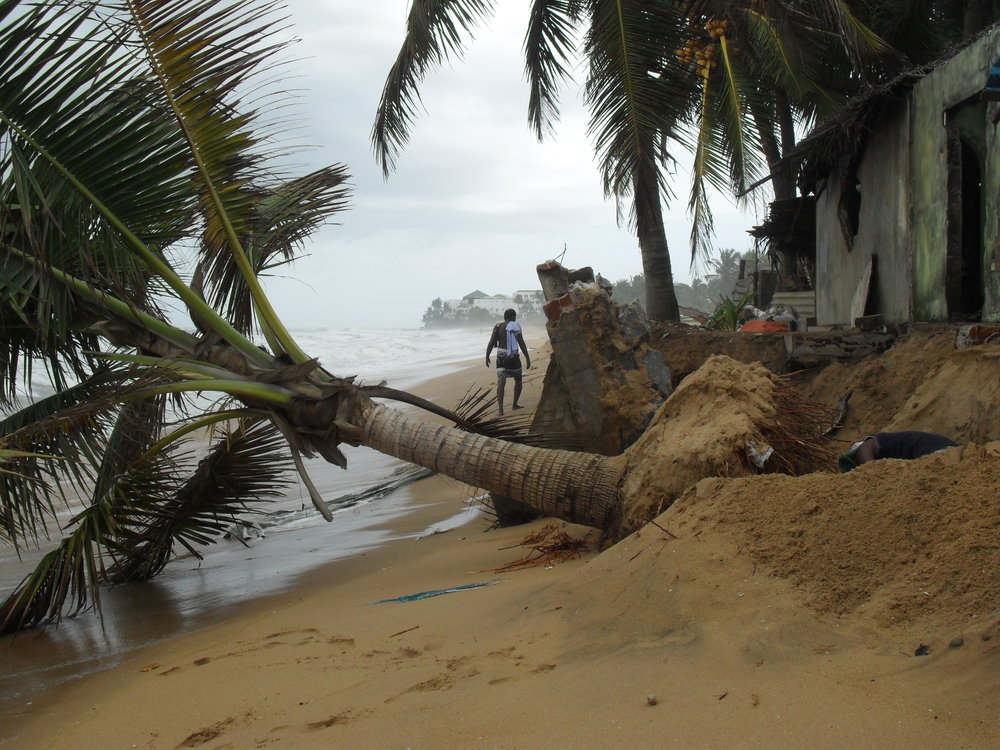 The beach following the 2015 storms