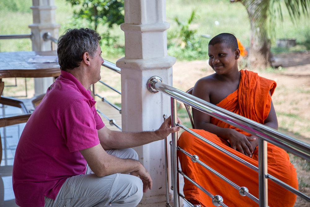Catching up with a very thoughtful young monk.