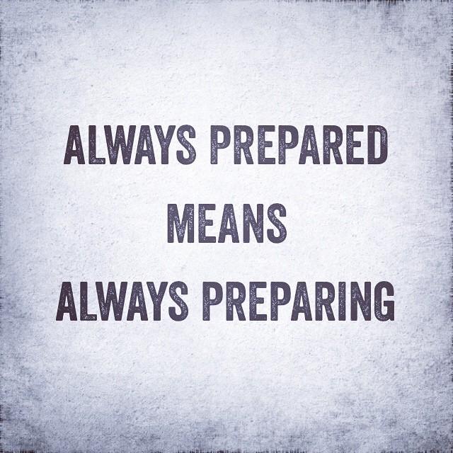 #alwaysprepared